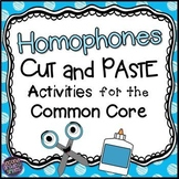 Homophones Worksheets Cut and Paste Printables