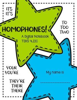 Homophones - Digital Notebook