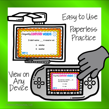 Homophones Set 2 - Digital Task Cards