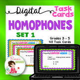Homophones Set 1 - Digital Task Cards