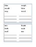 Homophones Draw Line Match Homophone-Word Reading Journal Supplement Spelling 4p