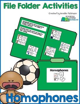 Homophones - File Folder Activity
