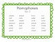 Homophones Flash Cards, Assessment, and Ideas