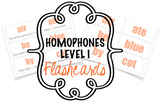 Homophones Flashcards Level I (26 words)