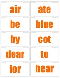 Homophones Flashcards Level I