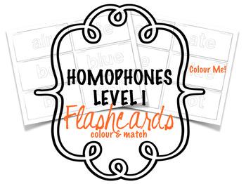 Homophones - Flashcards - Level Ic - Colouring Sheet