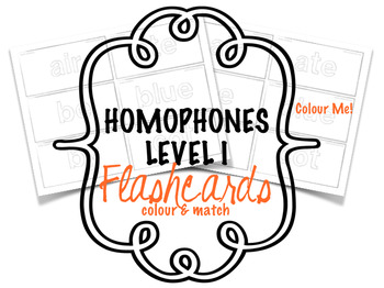 Homophones - Flashcards - Level Ic - Colouring Sheet