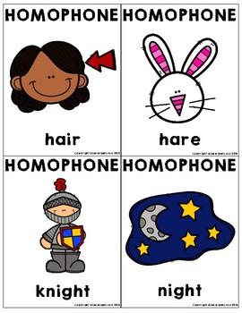 Homophones Flashcards: Different Spelling, Same Sound