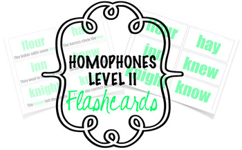 Homophones - Flashcards - Level II (35 words)