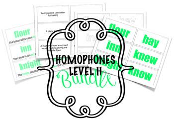 Homophones - Flashcards - Level II - Bundle