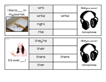Homophones Flip and Clip- Full