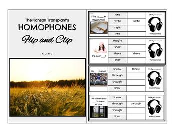 Homophones Flip and Clip- Full