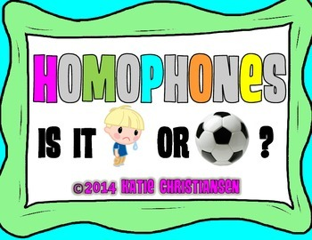 Homophones Fortune Teller or Cootie Catcher