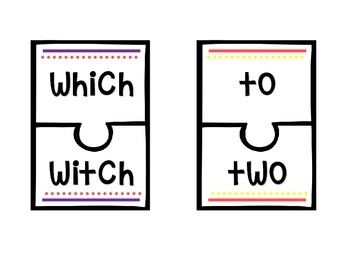 Homophone Frenzy! Set of 12 Puzzles