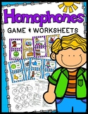 Homophones Game & Homophones Worksheets - 40 Task Cards!
