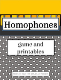 Homophones - Game and Printables