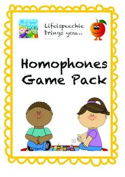 Homophones Games Pack