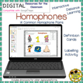 Homophones Google Apps Distance Learning Phonics Activity