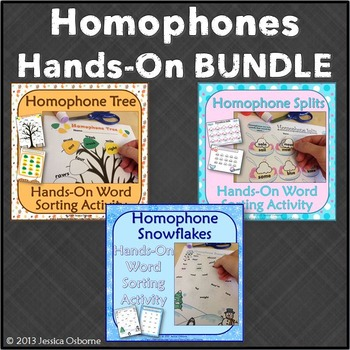 Homophones Word Sort Bundle