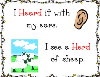Homophones: Heard and Herd
