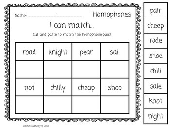 Homophones, Homographs & Homonyms Activity Pack