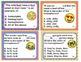 Homophones Homographs Homonyms Posters Task Cards - Emoji Theme