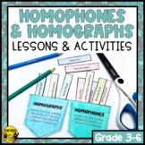 Homophones and Homographs Activities