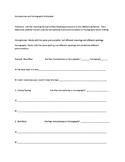 Homophones/Homographs Worksheet