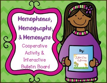 Homophones, Homographs, and Homonyms Activity and Bulletin Board