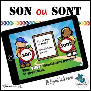 Homophones Homonymes Boom cards French distance learning ...