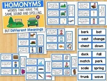 Homophones & Homonyms Activities and Worksheets Bundle Grade 2 Grade 3
