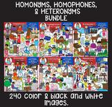 Clip Art - Homophones, Homonyms, and Heteronyms Bundle