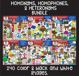 Homophones, Homonyms and Heteronyms Bundle