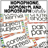 Homophones, Homonyms, Homographs for Upper Elementary Grades