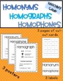 Homonyms • Homophones • Homographs