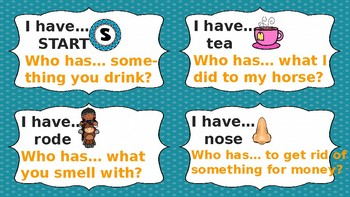 Homophones: I have...Who has (Set 2)
