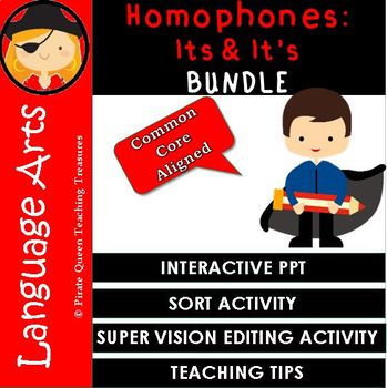 Homophones: ITS, IT'S Bundle/CCSS Aligned