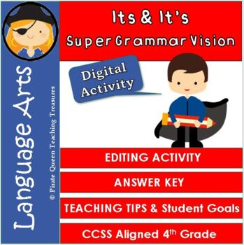 Homophones: ITS, IT'S Editing Activity/CCSS Aligned