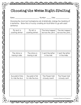 Homophones Interactive Notebook & No Prep Printables