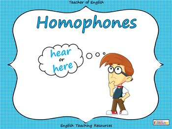 Homophones - Interactive PowerPoint teaching resource