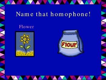 Homophones Intro Power Point Presentation