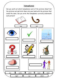 Homophones: Introduction Lesson & Worksheets