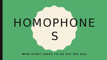Homophones - Introduction and Game