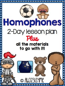 Homophones: Lesson Plan, Worksheets, Song, Hunting Activity, & More!