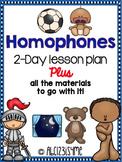 Homophones: Lesson Plan, Worksheets, Song, Hunting Activit