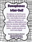 Homophones Lessons Unit
