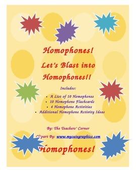 Homophones! Let's Blast into Homophones!!