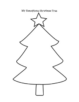 Homophones : Let's Decorate The Christmas Tree With Homophone Ornaments