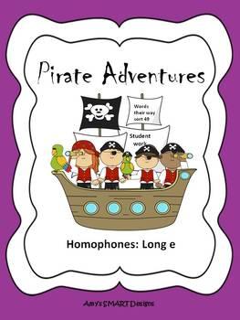 Homophones: Long e Pirate Adventures