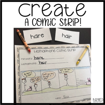 Homophones Match Up and Comic Strip